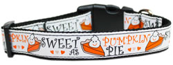 Pumpkin Pie Nylon Dog Collar